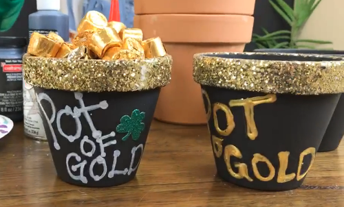Pot O Gold Clay Pot Craft