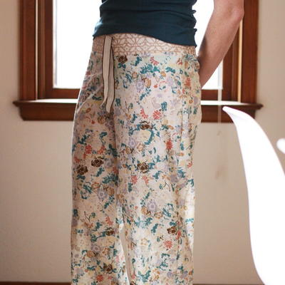 Shirred DIY Pajama Pants Tutorial