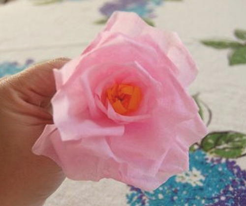 How to make a crepe paper rose favecrafts how to make a crepe paper rose mightylinksfo