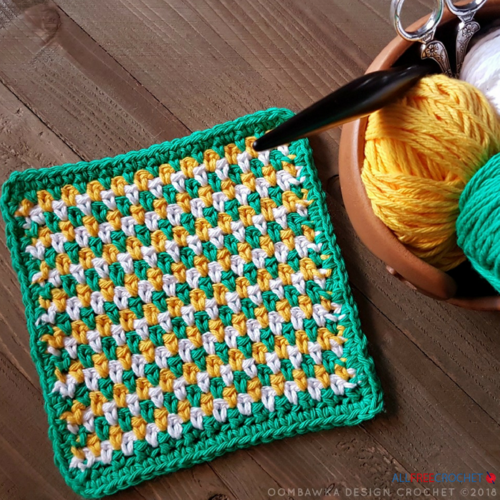 Seed Stitch Dishcloth Tutorial
