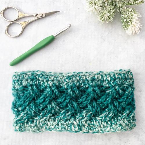 Celtic Winters Ear Warmer AllFreeCrochet Mesmerizing Crochet Ear Warmer Pattern