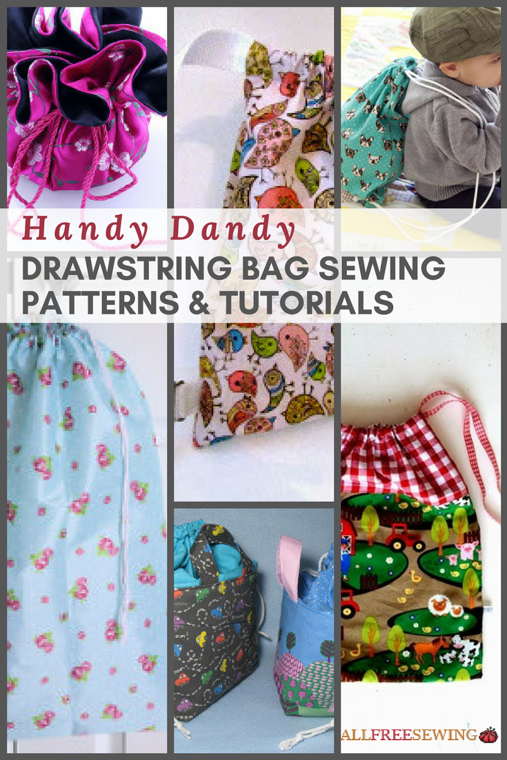 28 Handy Dandy Drawstring Bag Sewing Patterns Amp Tutorials