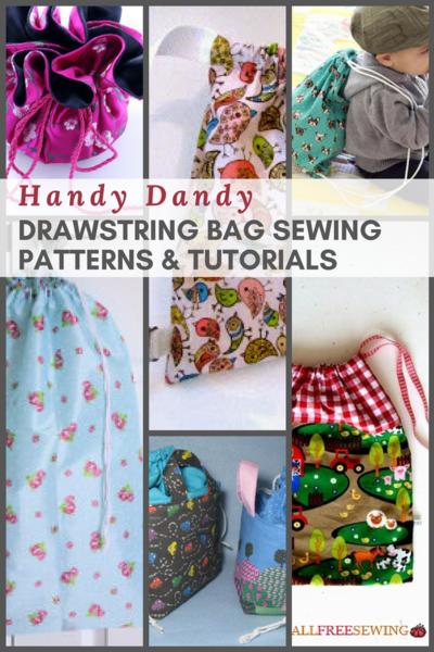 28 Handy Dandy Drawstring Bag Sewing Patterns & Tutorials ...