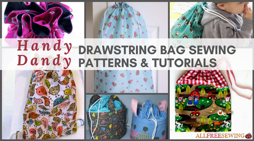 28 handy dandy drawstring bag sewing patterns tutorials for Drawstring jewelry bag pattern