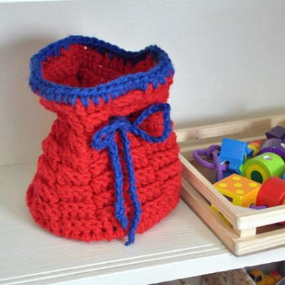 Crocheted Toy Basket