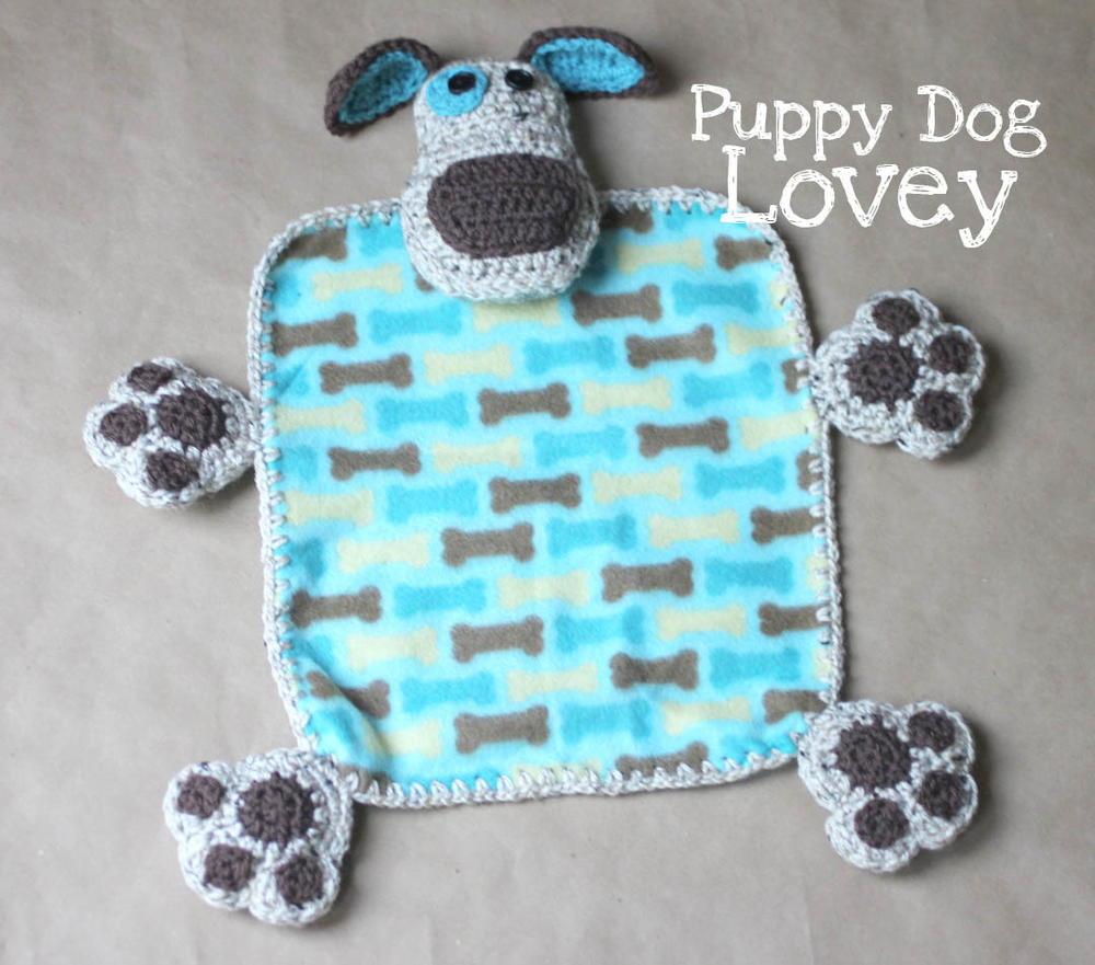 Puppy Dog Lovey Blanket   AllFreeCrochet.com