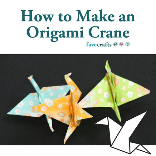 How To Make An Origami Crane Favecrafts
