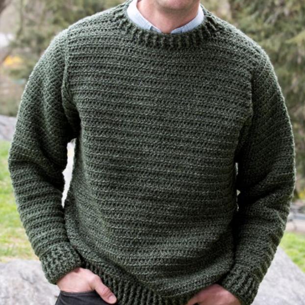 Simple Sweater For Him Allfreecrochet