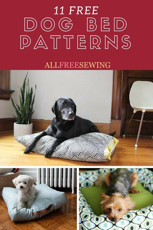 10 Free Dog Bed Patterns (Printable Patterns and More ...