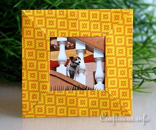 Origami Picture Frame Allfreepapercrafts