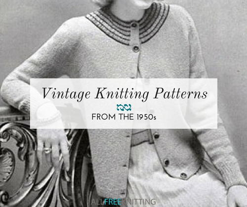 Vintage Knitting Patterns from the 1950s