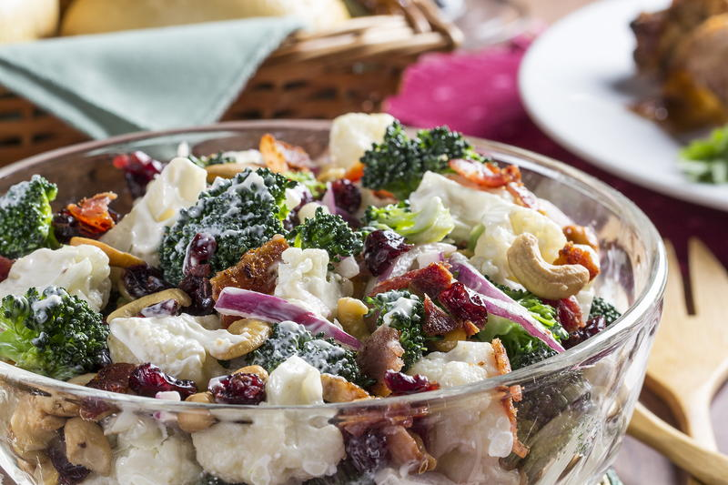 Mr food ingredients in todays recipe and past creations wkbw cauliflower broccoli salad forumfinder Images