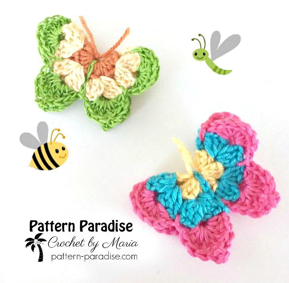 Crochet Butterflies | AllFreeCrochet.com