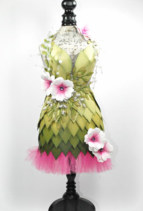 Spring Foliage Inspired Altered Dress Form