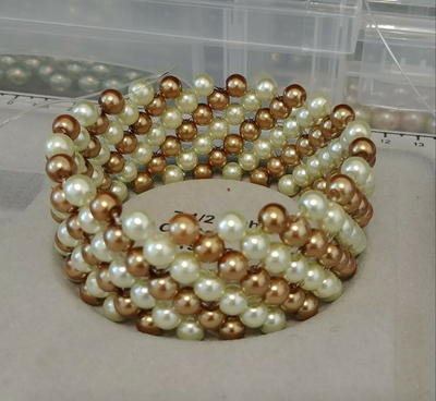 Lucky 7 Beaded Pearl Bracelet