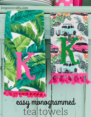 DIY Monogrammed Tea Towels