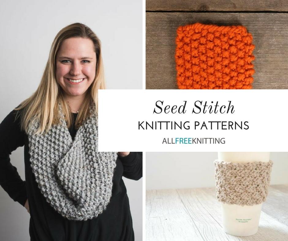 23 Seed Stitch Knitting Patterns | AllFreeKnitting.com
