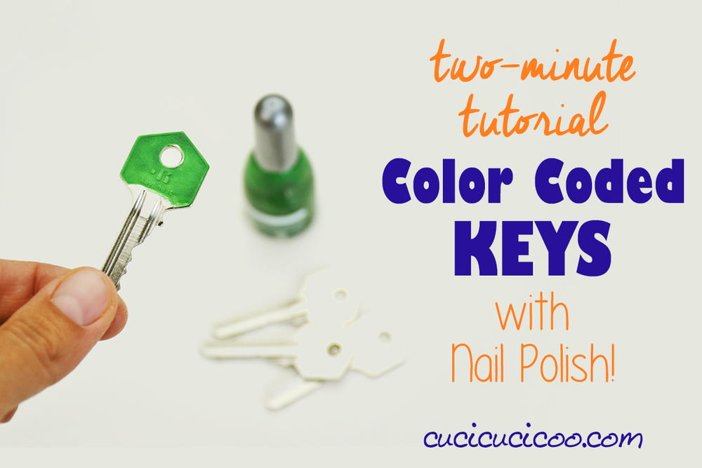 Quick color-coded keys