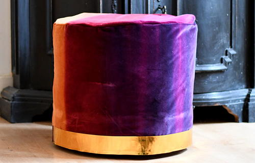 How to make a trendy floor pouf from a cable spool
