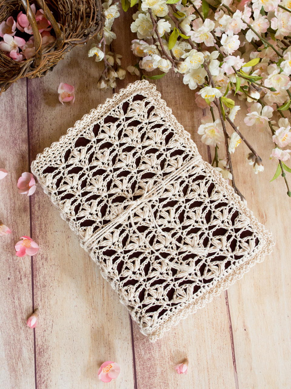 Hope Lace Bible Cover | AllFreeCrochet.com