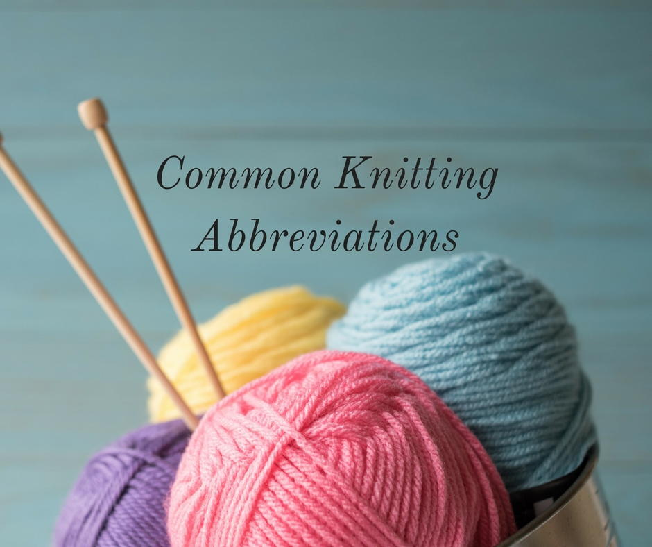 Common Knitting Abbreviations | AllFreeKnitting.com