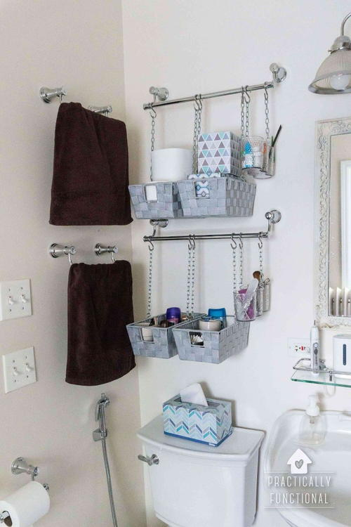 Hanging Baskets For Bathroom. Hanging Baskets Bathroom Organization