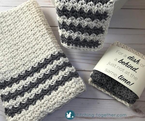 Crochet Country Dish Towel