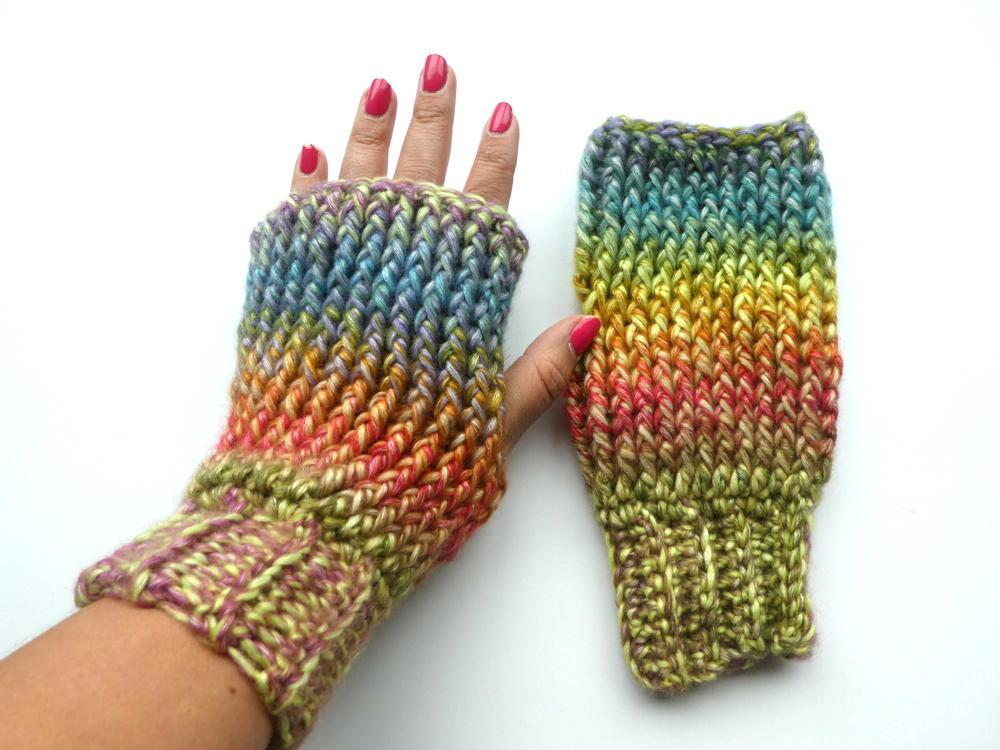 Up North Crochet Fingerless Mittens Allfreecrochet