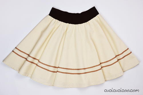 The Easy Way to Hem a Circle Skirt