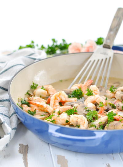 20-Minute Garlic Shrimp Skillet