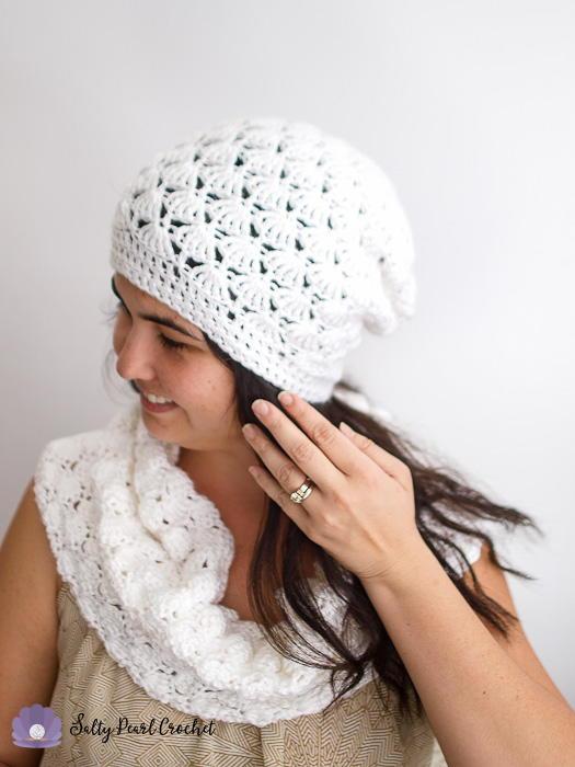 Venus Shell Slouch Hat   AllFreeCrochet.com
