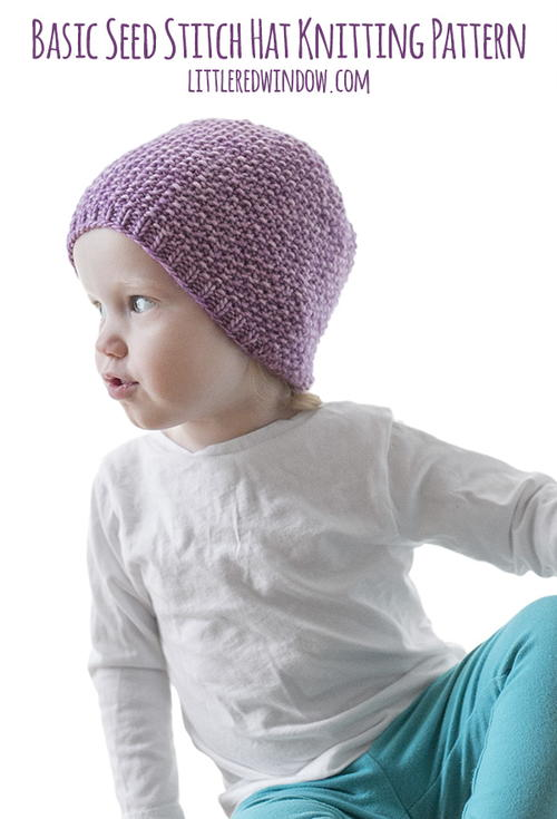 Easy Seed Stitch Baby Hat