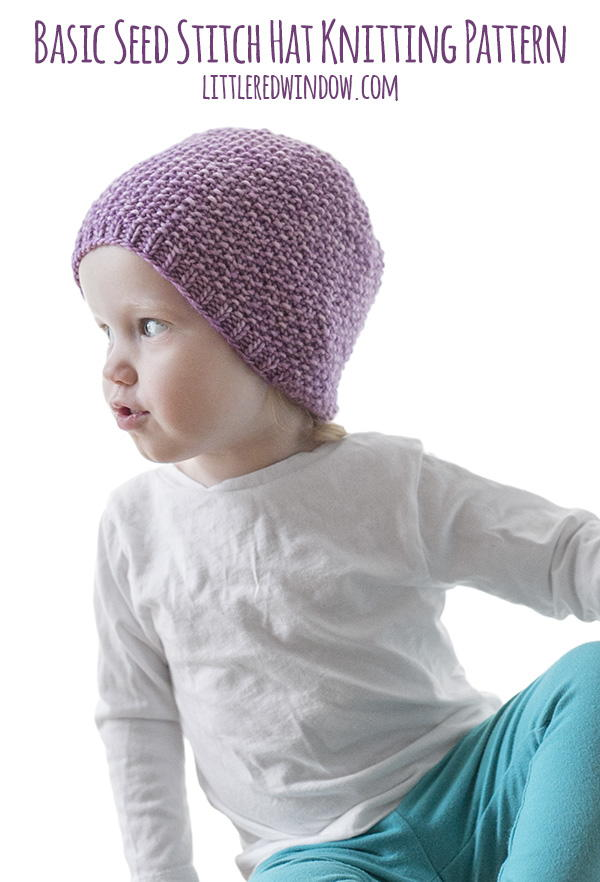 Easy Seed Stitch Baby Hat | AllFreeKnitting.com