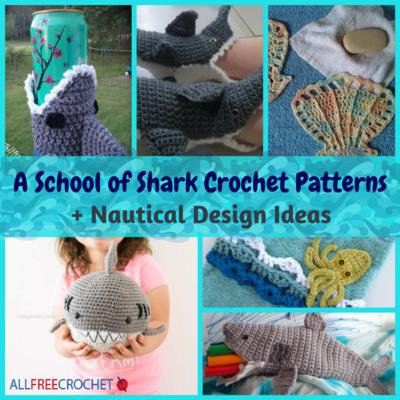 6 School Of Shark Crochet Patterns Nautical Design Ideas