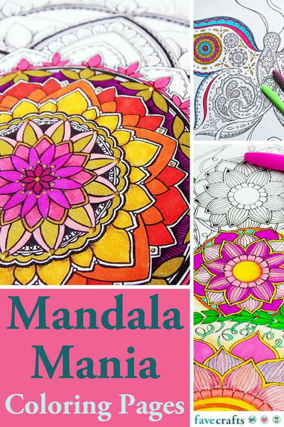 Mandala Mania 13 Coloring Pages
