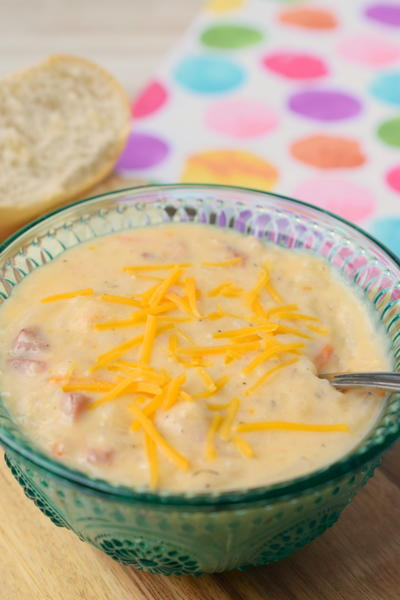 Slow Cooker Leftover Ham & Shredded Potato Soup