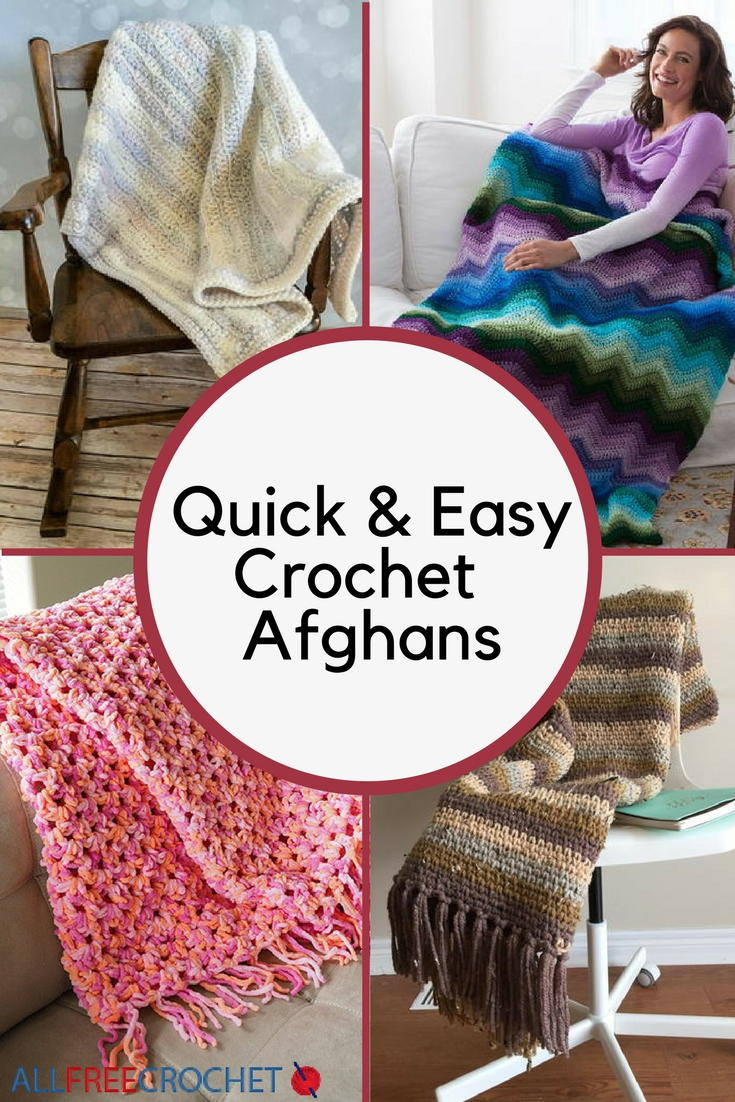 49 Quick and Easy Crochet Afghans | AllFreeCrochet.com