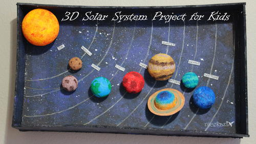how to make 3d solar system project for kids favecrafts com