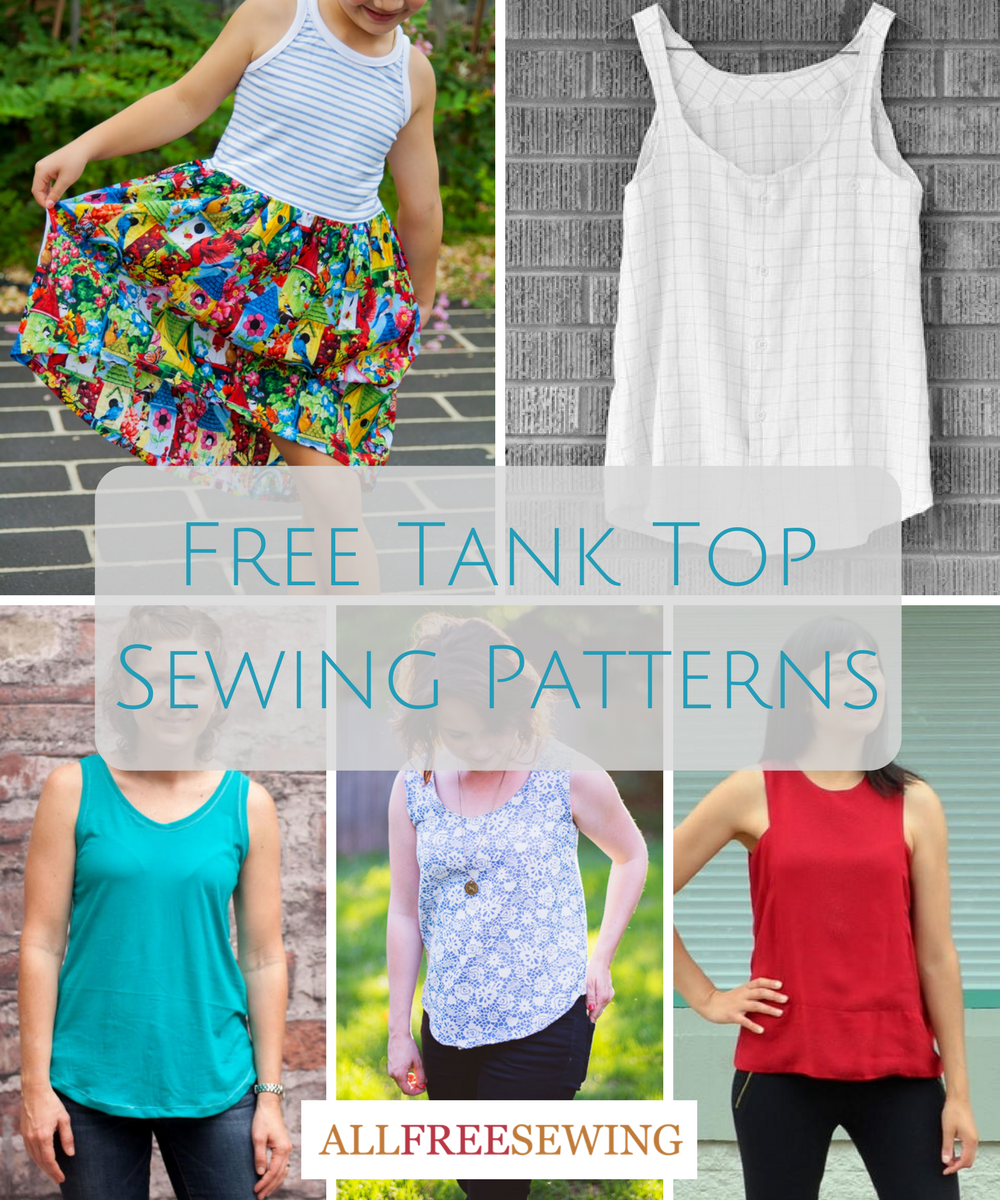 Cool for the Summer: 25 Free Tank Top Sewing Patterns ...