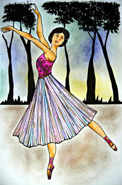 Ballerina Adult Coloring Page