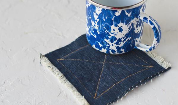 How to Make Coasters from Upcycled Denim