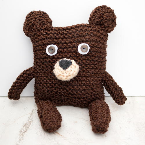 Square Bear Knitting Pattern Allfreeknitting