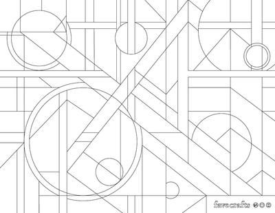 Geometric Painting Coloring Page