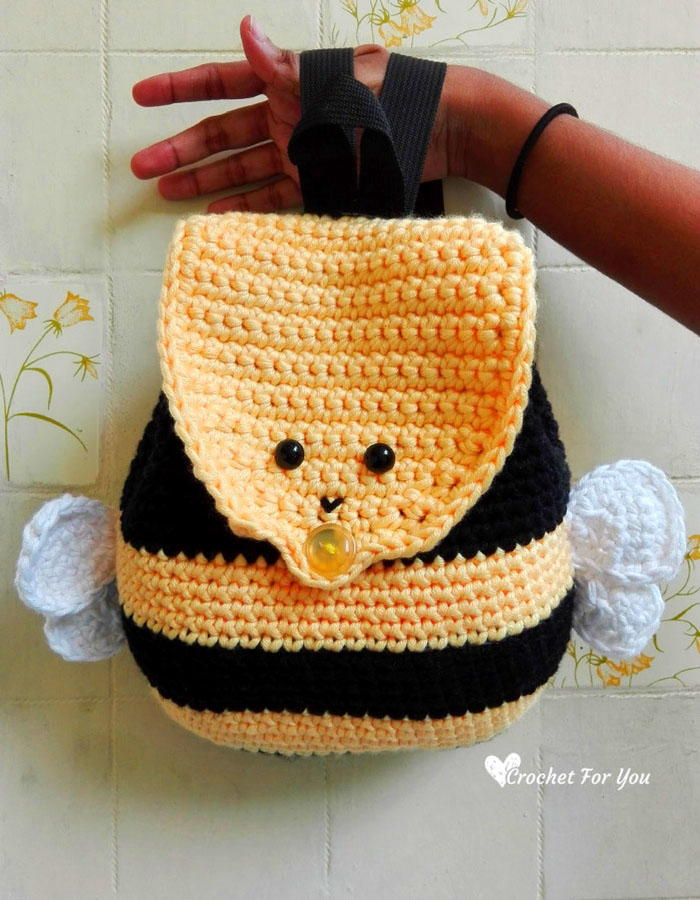 Crochet Bumble Bee Backpack Allfreecrochet