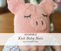 34+ Adorable Knit Baby Hats
