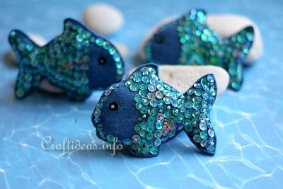 Sparkling Felt Fish Decoration