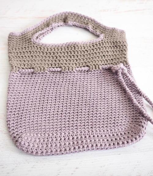 Lilac Roped Bag Crochet Pattern Allfreecrochet