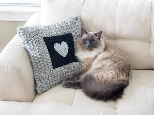 Aligned Cobble Stitch Pillow Crochet Pattern Allfreecrochet