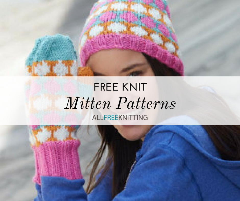 36 Free Knit Mitten Patterns | AllFreeKnitting.com
