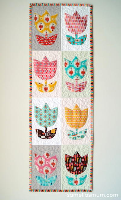 Tulip Time Quilt Allfreesewing